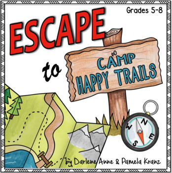 ESCAPE ROOM END OF YEAR ESCAPE TO CAMP! READING, WRITING, & FOLLOWING DIRECTIONS