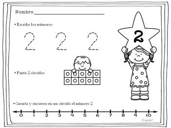 ESCRIBE Y CUENTA 1 AL 10 ESPAÑOL