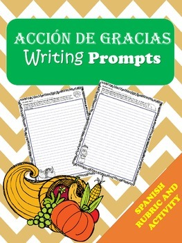 ESCRITURA : Dia de accion de gracias / WRITING:  Thanksgiving Day