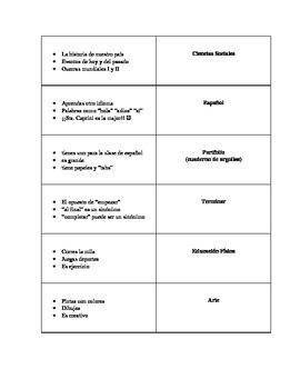 ESCUELA / School Flashcards
