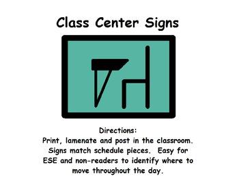 ESE Class Center Signs (set 1)