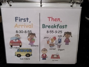 ESE Pre-K Schedule with Pictures Editable