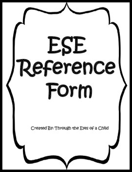 ESE Reference Form
