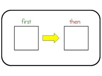 ESE Teacher First Then Schedule