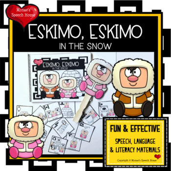ESKIMO EARLY READER PREPOSITIONS SPEECH THERAPY WINTER FUN PRE-K