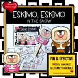 ESKIMO EARLY READER PREPOSITIONS SPEECH THERAPY WINTER FUN PRE-K