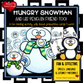 SNOWMAN PENGUIN FEEDING MOUTH SPEECH THERAPY  worksheets L