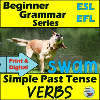 ESL Activities for Simple Past Tense Verbs Vocabulary and Writing EFL ELL