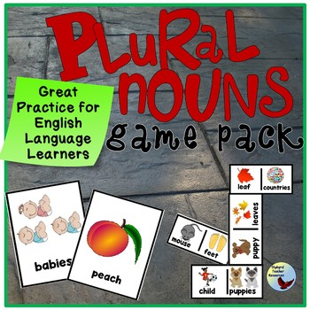ESL EFL: Plural Nouns Grammar Games