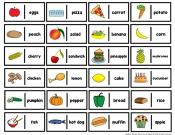 ESL Food Vocabulary Game Pack Newcomer and Intermediate Levels