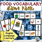 ESL Games Food Vocabulary Game Pack Newcomer and Intermediate Levels