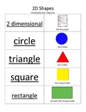 ESL 2D Shape Vocabulary Sort