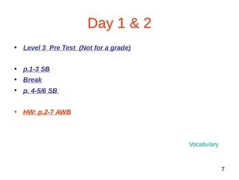 ESL 3 Week 1 Lesson (day 1)
