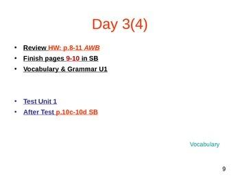 ESL 3 Week 1 Lesson (day 3)