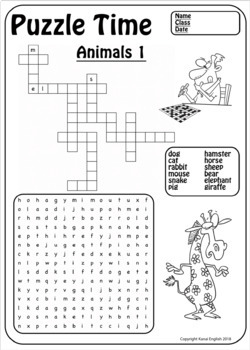 ESL 50 Puzzle Pack (Wordsearch and Fill-in Crosswords)