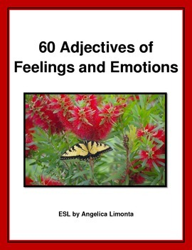 English: 60 Adjectives of Feelings and Emotions