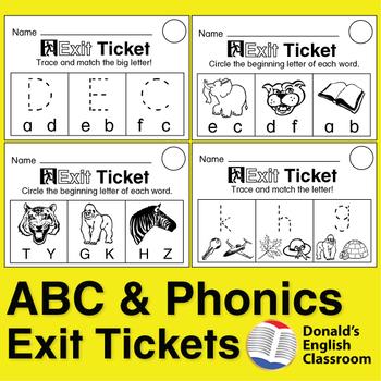 ESL ABC Exit Tickets