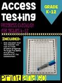 ESL Access Testing Progress Checklist