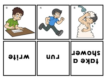 ESL Activities: Action Verbs and Verb Tenses