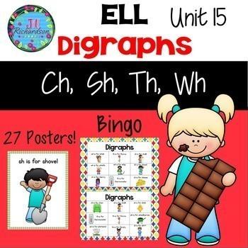 ESL Activities Bundle: Units 11-15 Nouns, Days/Week, Idioms, Alphabet, Digraphs