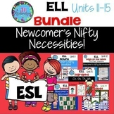 ESL Beginners Bundle: Units 11-15 Nouns, Days/Week, Idioms, Alphabet, Digraphs