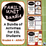 ESL Beginners Activities:  Family Unit Vocabulary and Activities Bundle