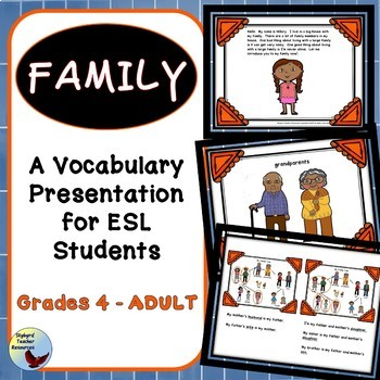 ESL Activities: Family Vocabulary Presentation Lesson