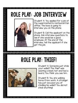 ESL Activities: Role Plays