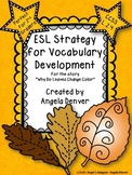 ESL Activity For Vocabulary Development for Why Do Leaves Change Colors