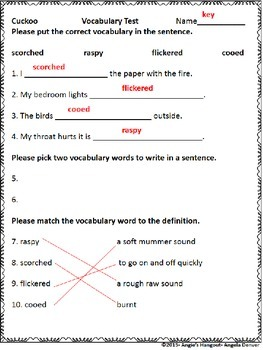 ESL Activity for Vocabulary Development for Cuckoo