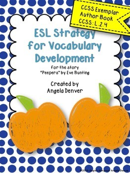 ESL Activity for Vocabulary Development for Peepers