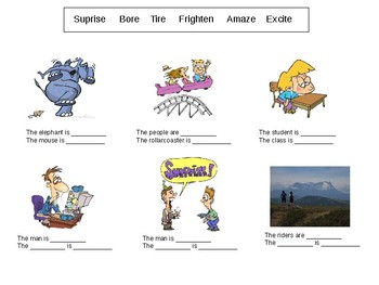 ESL Intermediate: Adjectives -ed and -ing