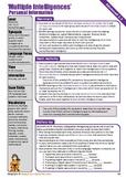 ESL Advanced Multiple Intelligences Speaking Lesson