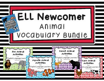 ESL Animal Vocabulary Bundle