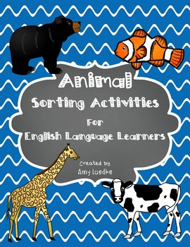 ESL Animal Vocabulary Sorts