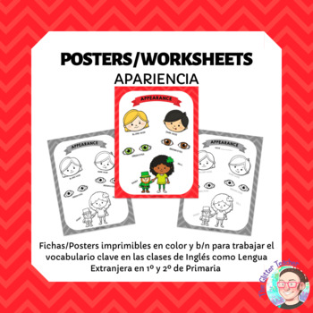 ESL Appearance vocabulary posters for years 1 & 2
