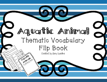 ESL Aquatic Animal Vocabulary Flip Books