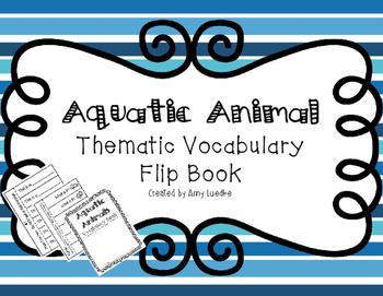 ESL Aquatic Animal Vocabulary Flip Books
