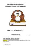 ESL Sample Practice Tests Modeled on States: Reading