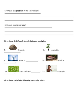 ESL Assessment for Environmental Science
