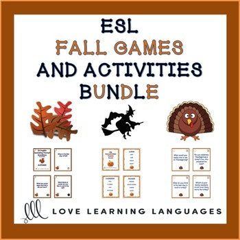 ESL - ELL Autumn Games and Speaking Activities Bundle