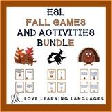 ESL - ELL Autumn Games and Speaking Activities Bundle