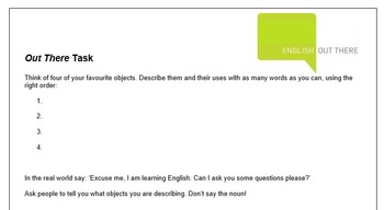 ESL B1 Lesson Plan and Worksheets - Describing objects, adjective order