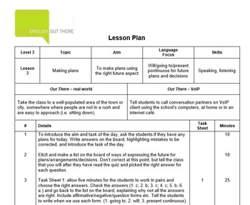 ESL B1 Lesson Plan and Worksheets - Will, going to, Present Continuous for plans