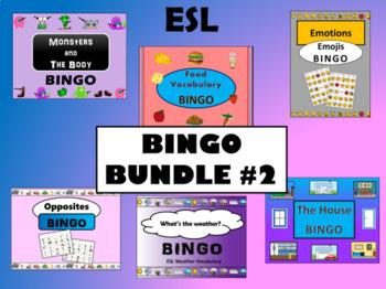 ESL BINGO BUNDLE #2 - 6 more ESL BINGO Games