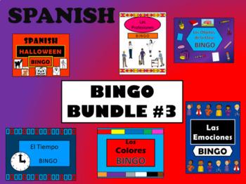 Spanish BINGO BUNDLE #3 - 6 MORE Spanish Bingo Games