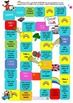 ESL Oral Language Game Board - Colors and Rainbows - USA Spelling