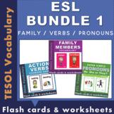 ESL BUNDLE 1 - FAMILY / ACTION VERBS / PRONOUNS
