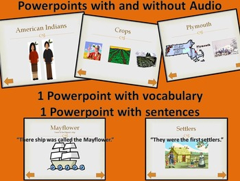 ESL BUNDLE Thanksgiving Listening and Dictation (PowerPoints Printables)