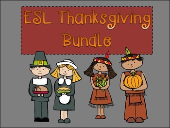 ESL BUNDLE Thanksgiving Listening and Dictation (PowerPoin
